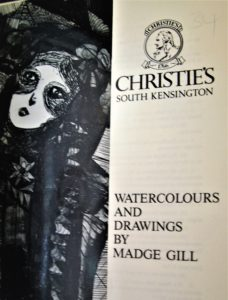 Watercolours and Drawings by Madge Gill at Christie's, London 1985